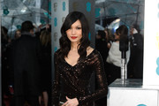 Gemma Chan Beaded Dress