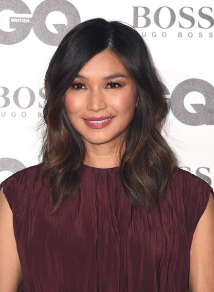 Gemma Chan Medium Wavy Cut