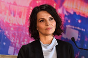 Juliette Binoche rocked a messy-chic bob at the 'Ghost in the Shell' press conference in Paris.
