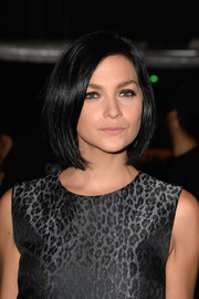 Leigh Lezark opted for a simple bob when she attended the Giambattista Valli Couture fashion show.