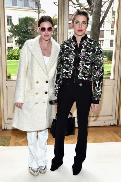 Juliette Dol and Charlotte Casiraghi at Giambattista Valli
