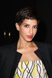 Princess Deena Aljuhani Abdulaziz attended the Giambattista Valli Couture fashion show wearing her hair in a cool pixie.