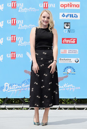 Evanna Lynch kept it plain in a black tank top during day 4 of the Giffoni Film Fest.