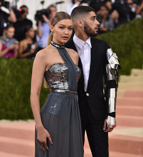 Gigi Hadid Statement Ring [manus x machina: fashion in an age of technology costume institute gala - arrivals,dress,clothing,red carpet,fashion,formal wear,carpet,suit,event,gown,haute couture,zayn malik,gigi hadid,new york city,metropolitan museum of art,manus x machina: fashion in an age of technology costume institute gala]