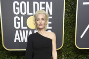 Gillian Anderson One Shoulder Dress