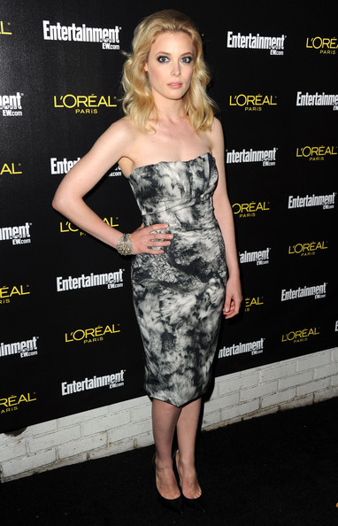Gillian Jacobs Pumps [clothing,dress,cocktail dress,shoulder,strapless dress,premiere,hairstyle,fashion model,fashion,carpet,arrivals,gillian jacobs,nominees,jess cagle,screen actors guild awards,chateau marmont,entertainment weekly,party,17th annual pre-screen actors guild awards,celebration]