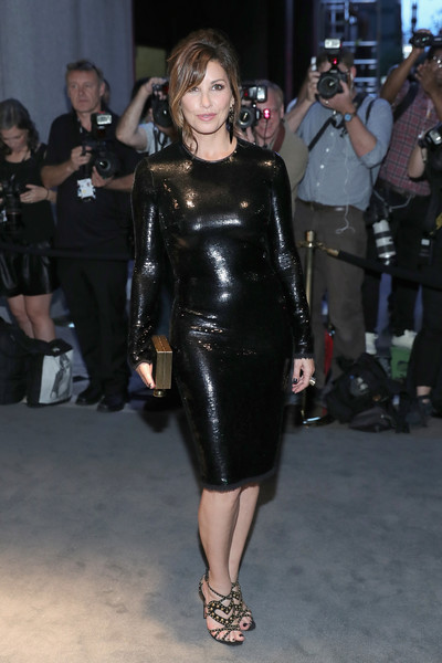 Gina Gershon Form-Fitting Dress