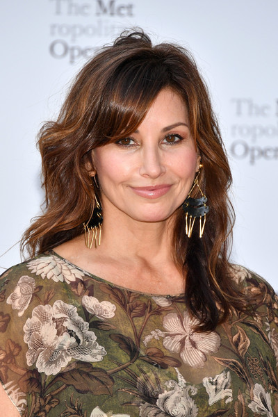 Gina Gershon Medium Wavy Cut with Bangs