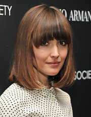 Rose Byrne wore her adorable medium-length pageboy with lash-grazing bangs at a screening of 'Albert Nobbs.'