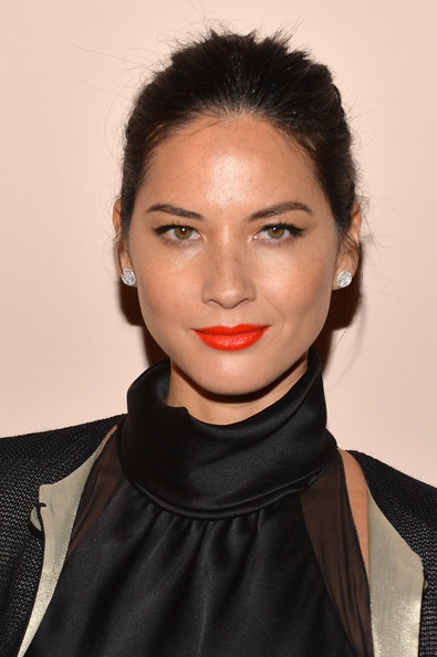 More Pics of Olivia Munn Classic Bun (3 of 16) - Olivia Munn Lookbook - StyleBistro
