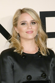 Dianna Agron wore a lovely half-up 'do with gentle waves when she attended the Giorgio Armani SuperPier show.