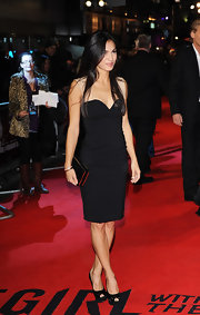 Elodie Yung showed off her silky black locks and petite figure in a sweet-heart LBD at the 'Girl With the Dragon Tattoo' premiere.