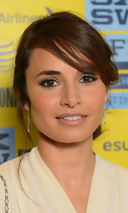 Mia Maestro opted for a nude lip so as not to compete with her bold smoky eye.