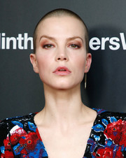 Sylvia Hoeks looked tough with her buzz cut at the New York screening of 'The Girl in the Spider's Web.'