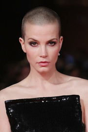 Sylvia Hoeks' buzzcut made a tough contrast to her sequined gown at the Rome Film Fest screening of 'The Girl in the Spider's Web.'