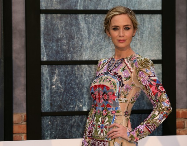 More Pics of Emily Blunt Beaded Dress (1 of 10) - Emily Blunt Lookbook - StyleBistro