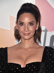 Olivia Munn went for easy glamour with this high ponytail at the #girlhero Awards luncheon.