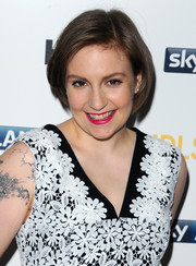 Lena Dunham kept it casual and cute with this bob at the 'Girls' season 3 premiere in London.