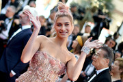 Hailey Baldwin looked lavish wearing this diamond cuff by Chopard at the Cannes Film Festival screening of 'Girls of the Sun.'