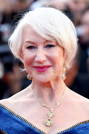 Helen Mirren made an appearance at the Cannes Film Festival screening of 'Girls of the Sun' wearing her trademark bob.