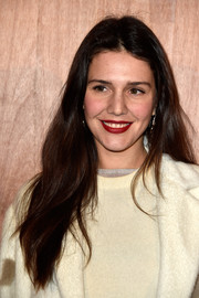 Margherita Missoni wore a loose, gently wavy 'do when she attended the Givenchy fashion show.