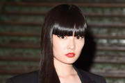 Long Straight Cut with Bangs