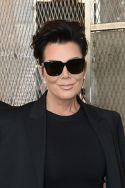 Kris Jenner looked tres cool with her fauxhawk.