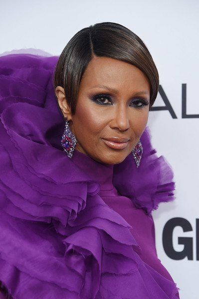 Iman rocked a sleek short 'do at the 2017 Glamour Women of the Year Awards.