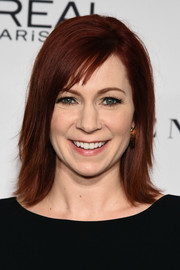Carrie Preston sported simple yet trendy straight layers and side-swept bangs during the Glamour Women of the Year Awards.