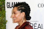 Tracee Ellis Ross topped off her look with a cornrow updo when she attended the Glamour Women of the Year 2016.