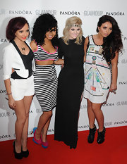 Jesy Nelson was obviously in the mood for spikes, pairing her spiked dress with spiked ankle boots.