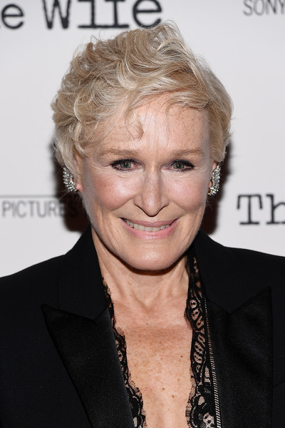 Glenn Close Messy Cut [the wife,hair,hairstyle,blond,smile,wrinkle,premiere,glenn close,new york,the paley center for media,screening]