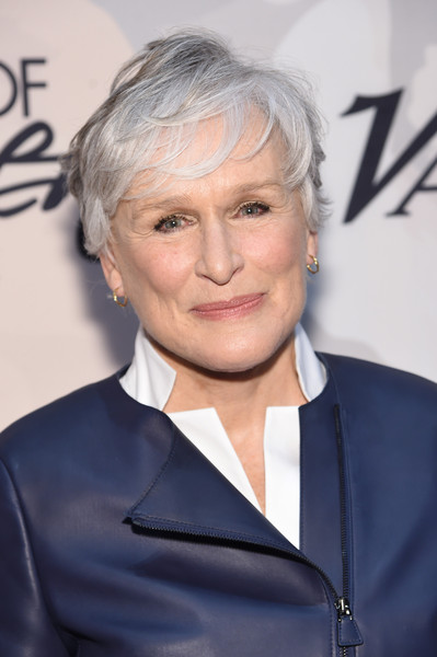 Glenn Close Messy Cut [hair,hairstyle,blond,official,white-collar worker,suit,glenn close,arrivals,variety,power of women new york,new york city,cipriani 42nd street,power of women new york,lifetime]