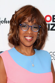 Gayle King wore her hair in a wavy bob at the Global Citizen: The World on Stage event.