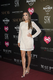 Eva Longoria opted for a simple yet chic beaded LWD for the Global Gift Gala in Ibiza.