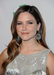 Sophia Bush wore her hair in smooth flowing waves at the 9th Annual Global Green USA pre-Oscar party.
