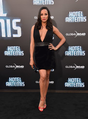 Dania Ramirez looked alluring in a deep-V LBD at the premiere of 'Hotel Artemis.'