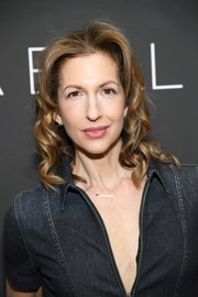 Alysia Reiner sported mid-length curls at the New York screening of 'Gloria Bell.'