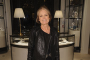 Gloria Steinem Leather Jacket