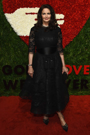 Lynda Carter kept it timeless in a fit-and-flare LBD at the God's Love We Deliver, Golden Heart Awards.