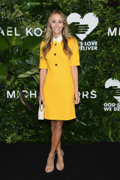 Harley Viera-Newton was a drop of summer sunshine in this canary-yellow shirtdress by Michael Kors at the Golden Heart Awards.