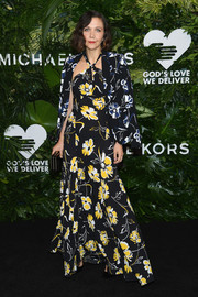 Maggie Gyllenhaal was beach-glam in a floral halter maxi dress by Michael Kors at the Golden Heart Awards.