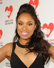 Jennifer Hudson styled her hair in a teased half-up half-down 'do for the Golden Heart Awards.