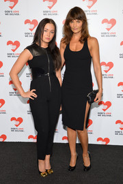 Helena Christensen looked as sexy as ever in a slinky LBD with a thigh-high slit during the Golden Heart Awards.