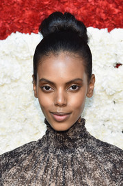 Grace Mahary attended the Golden Heart Awards wearing her hair in a towering bun.
