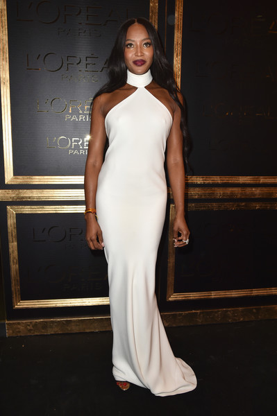 Naomi Campbell at the L'Oreal Gold Obsession Party
