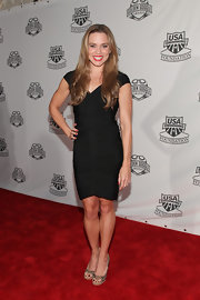 Natalie Coughlin pulled off  a black bandage dress at the 2011 Golden Goggles.