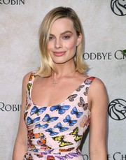 Margot Robbie looked cute wearing her hair in a flip at the New York special screening of 'Goodbye Christopher Robin.'