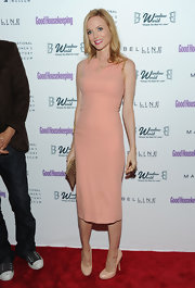 Heather Graham looked just peachy in a sleek knee-length cocktail dress for the Shine On Awards.