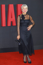 Helen Mirren chose a dotted, sheer-panel LBD by Goat for the world premiere of 'The Good Liar.'